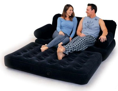 Flocked Inflatable Sofa Bed