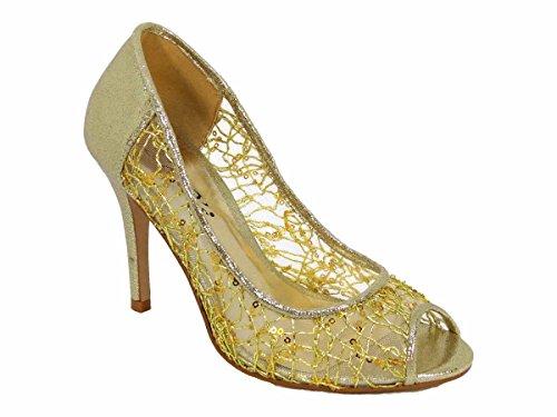 Sandales Femme Sko's l3 Gold Pour 6qBdwB