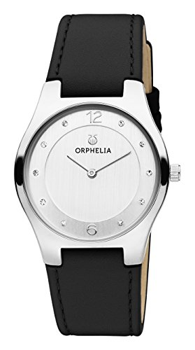 ORPHELIA Chiaro Black Leather Strap-OR11712