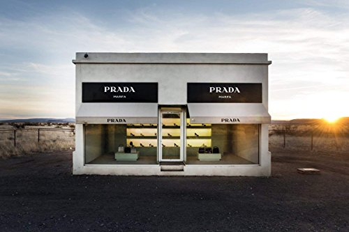 Photo Print | Prada Marfa, Valentine, TX - A Permanently Installed Sculpture by Artists Elmgreen and Dragset | Historic Fine Art Wall Décor Poster ()