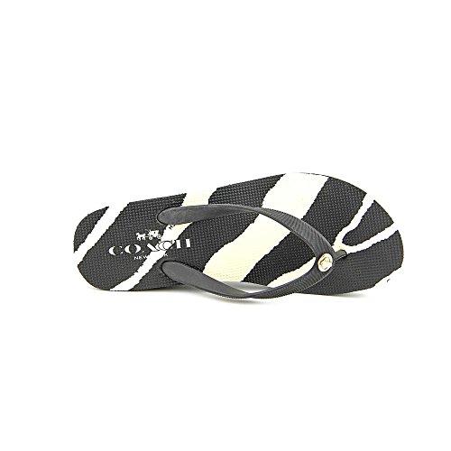 Coach Linley Womens Size 8 Black Wedge Sandals Shoes
