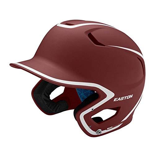 (Easton Z5 Matte 2.0 Two-Tone Baseball Batting Helmet (Maroon/White, Senior))