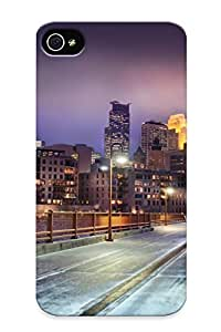New Arrival Case Specially Design For Iphone 4/4s (snowy Bridge In Minnesota)