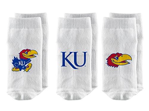 ba976e24e5ff5 Strideline NCAA Kansas Jayhawks Toddler Baby Socks