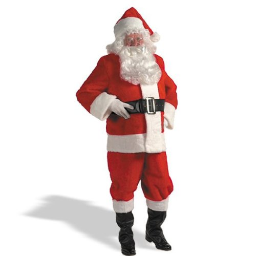Quality Plush Santa Suit Set Adult Costume - Large by Halco