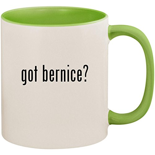 got bernice? - 11oz Ceramic Colored Inside and Handle Coffee Mug Cup, Light (Summerfield 1 Light)