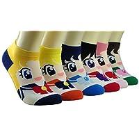 Sailor Moon calcetines de mujer 6 pares