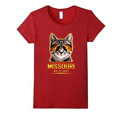 Cat Is Watching Missouri Total Solar Eclipse 2017 T-shirt