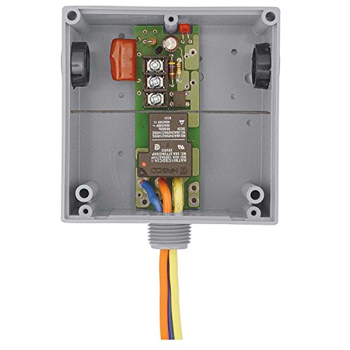 Functional Devices RIBT2401B Enclosed Relay, Hi/Low Separation, 20 Amp Spdt with 24 Vac/Dc/120 Vac ()