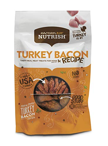 Rachael Ray Nutrish Turkey Bacon Grain Free Dog Treats, Hickory Smoked Turkey Bacon Recipe, 12 ()