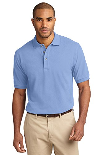 Port Authority Men's Pique Knit Polo XL Light Blue