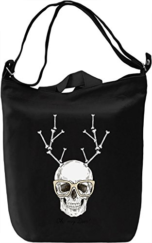Deer skull Borsa Giornaliera Canvas Canvas Day Bag| 100% Premium Cotton Canvas| DTG Printing|