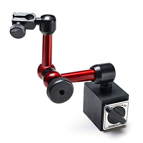 IMAGE® Adjustable 7.7' Magnetic Base Holder Stand Use for Digital Level Dial Test Indicator Gauge
