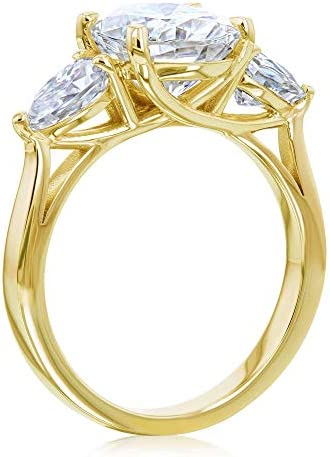 Kobelli 3 Stone Trellis Oval & Pear Ring (HI/VS)