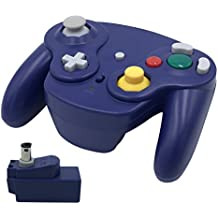 Wireless Gamecube Controller, Veanic 2.4G Wireless Controller Gamepad Joystick for Nintendo Gamecube, Compatible with Wii (Blue)