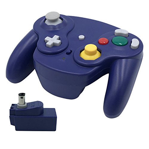 Wireless Gamecube Controller, Veanic 2.4G Wireless Controller Gamepad Joystick for Nintendo Gamecube,Compatible with Wii / Wii U (Blue)
