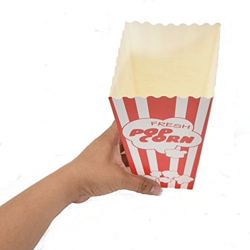 30 Popcorn Boxes, 7.75'' Inches Tall and Holds 46 Oz. with Old Fashion Vintage Retro Design with Red and White Colored, Nostalgic Carnival Stripes by Original Salbree by Salbree (Image #7)