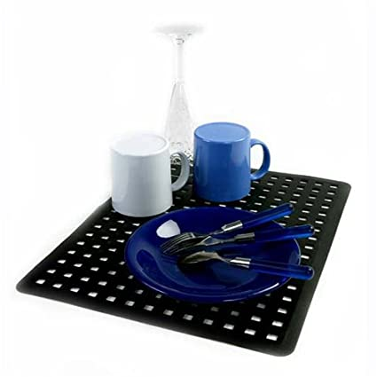 Amazon.com: Large Black Sink Drain Mat Protector Kitchen Decor New on black kitchen mats, kitchen cabinet mats, kitchen countertop mats, kitchen slice mats, industrial kitchen mats, kitchen door mats, kitchen chair mats, shower mats, kitchen drain mats, kitchen table mats, kitchen rugs and mats, kitchen floor mat, kitchen area mats, padded kitchen mats, kitchen heat mats, decorative kitchen mats, colorful kitchen mats, kitchen mats product, kitchen counter mats, bathtub mats,