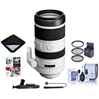 Sony 70-400mm F4-5.6 G Series SSM Super Telephoto Lens for A Alpha DSLR Cameras - Bundle With 77mm Filter Kit, Lens Wrap (19x19), LensPen Lens Cleaner, Capleash, Cleaning Kit, Software Package