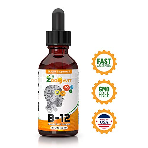 (Vitamin B Complex Liquid Drops with Fast Absorption - Super B Liquid Complex Vitamins B2, B3, B5, B6 & B12 - Natural Energy Boost, Mental Focus & Healthy Immune System)