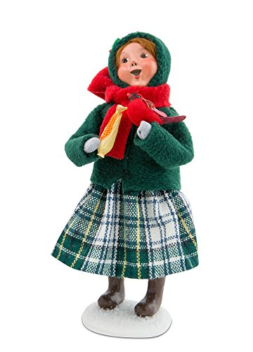 Byers' Choice Family with Cardinals Girl Caroler Figurine #111G from The Specialty Carolers Collection