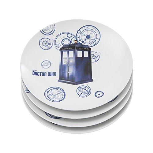 Doctors Plate (Vandor Doctor Who 10-Inch Ceramic Plates, 4-Piece Set (16137))