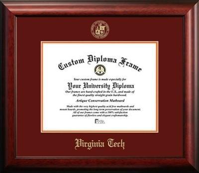 Virginia Tech Graduation Diploma Frame