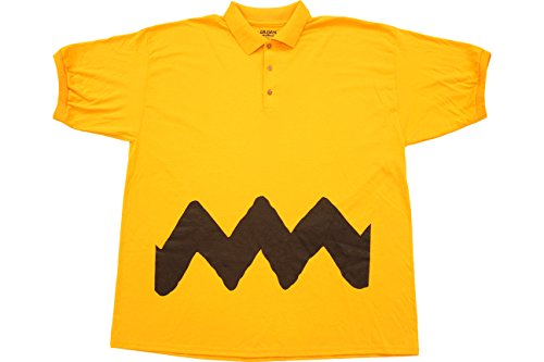Lucy Van Pelt Costumes Adults (Peanuts Charlie Brown Polo Button Up Costume T-Shirt (Adult Medium))