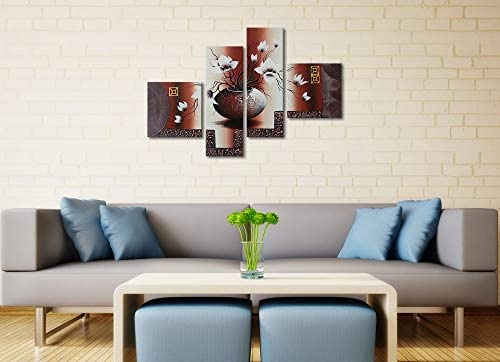 home, kitchen, wall art,  paintings 10 on sale Wieco Art 4-Piece Elegant Flowers Stretched and promotion