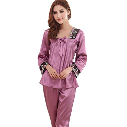 wp-womens-long-sleeve-satin-silk-pajama-set-sleepwear-with-lace-pj-pants-us-xl-purple