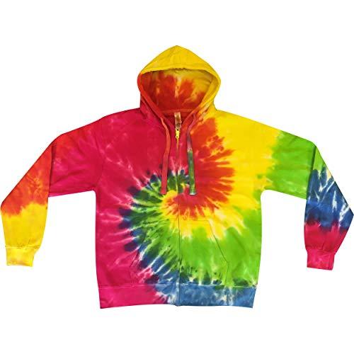 (Tie Dye Mania Retro swirl tie-dye heavyweight full-zip sweatshirt - X-Large)