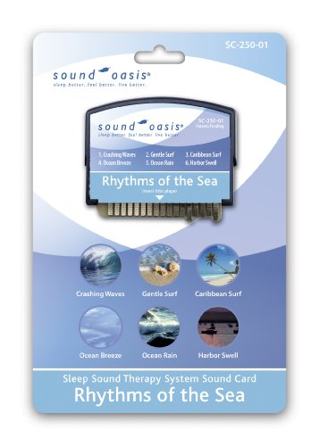 Sound Oasis Sleep Sound Therapy System with Rhythms of the Sea Expansion Sound Card Included