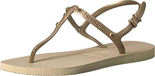 - Havaianas Women's Freedom Crystal SW Flip-Flops Sand Grey 37-38 M Bra