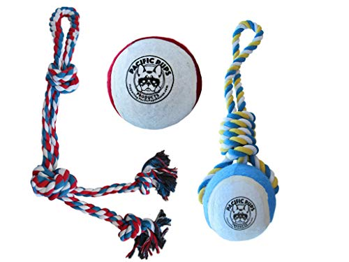 DOG TOYS FOR LARGE DOGS - SUPPORTS NON-PROFIT DOG RESCUE - DOG ROPE TOYS - INTERACTIVE LARGE DOG TOYS FOR BOREDOM - GIANT ROPE TOYS FOR AGGRESSIVE CHEWERS - TUG TOYS FOR XL DOGS - GIANT FETCH BALL TOY