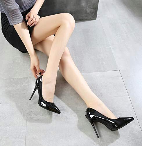 Kphy Profonds Trente Pointus Chaussures 10cm Talon Petites Super Travail Peu Pieds Noir huit Simples Et De Filles Haut Femmes Talons rrwTFB6q