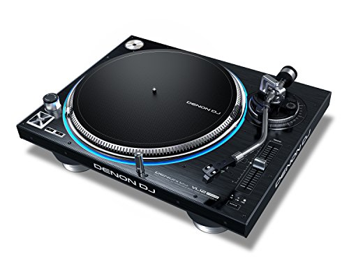 Denon DJ VL12 PRIME | Professional Turntable with True Quartz Lock & RGB LED Light Ring by Denon DJ