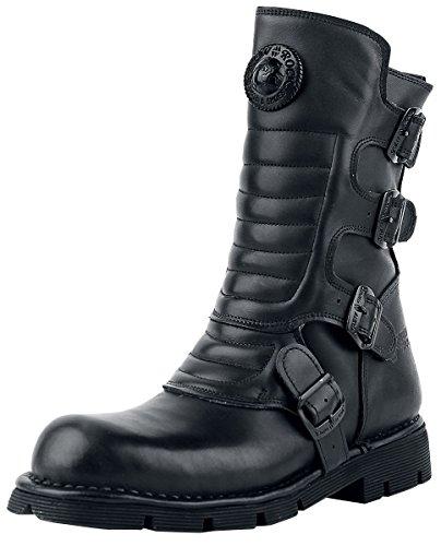 Rock Unisex Black New 13 S6 Boots Biker Black Adult's 373X M SdSUIZ