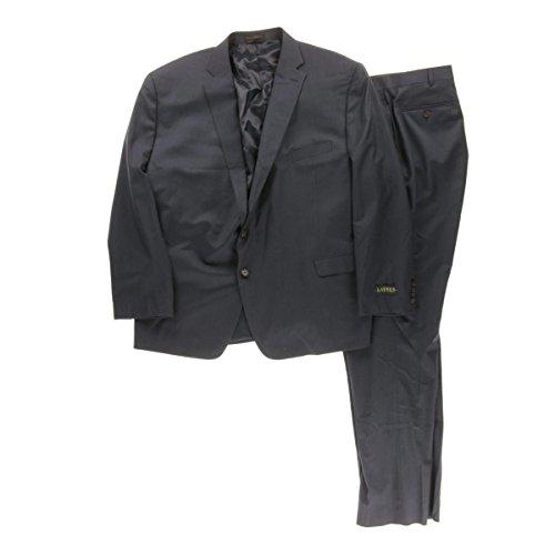 Ralph Lauren Two Button Suit (Lauren Ralph Lauren Mens 2PC Wool Two-Button Suit Blue 56R)