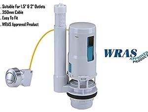 dual flush toilet parts. TOILET PUSH BUTTON DUAL FLUSH CISTERN SYPHON VALVE  FILL UNIVERSAL FIT OVAL CFVO