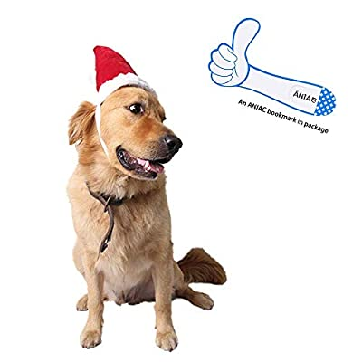 ANIAC Children Large Pet Costume Red Christmas Hat Pointed Xmas Cap for Kids Big Dogs¡­
