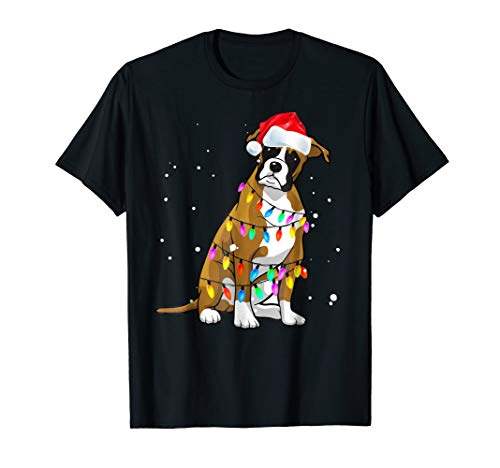 T-shirt Dogs Boxer Mens (Boxer Christmas T-Shirt Boxer Dog Christmas Shirt Gift)