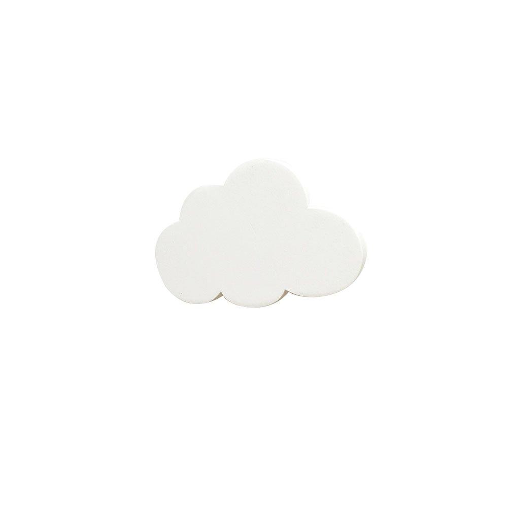 6.5 Xuxuou Estante Gancho Forma de Nube Gancho de Madera,Blanco,De Madera 10 1cm