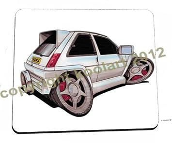 Koolart blanco Renault 5 GT Turbo - Alfombrilla para ratón de alta calidad: Amazon.es: Hogar