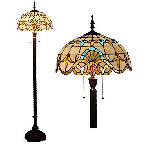 Floor lamp Tiffany Style European Retro Creative Living Room Study Restaurant bar Cafe Hotel Club Floor -