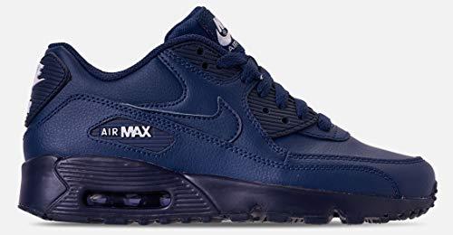 Nike 833412-412: Boy's Air Max 90 Midnight Navy/White (GS) Sneaker (4.5 M US Big Kid) ()