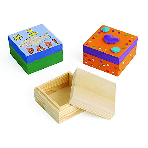 Colorations Wooden Trinket Boxes (Set of 12)
