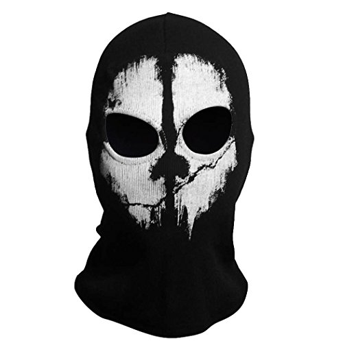 Hi-crazystore Scary Mask Halloween Costumes Call of Dudy Ghost Skull Mask Balaclava Ski Protective Full Face Mask