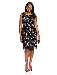 Single Dress womens plus-size Sleeveless Lace Dress