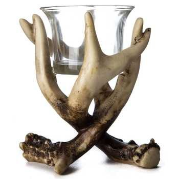 Antler Candle Holder - 4 1/8
