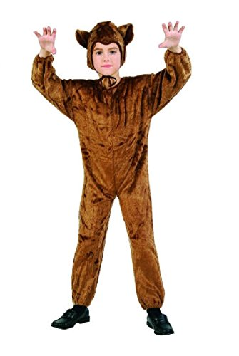 [OvedcRay Brown Bear Child Costume Cub Plush Farm Zoo Animal Kids Jumpsuit Costumes] (Captain Caveman Costume)